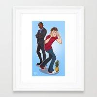 psych Framed Art Prints featuring Psych! by ashley sanborn