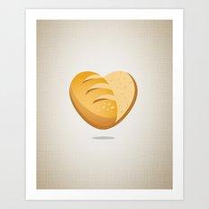 Loving bread Art Print