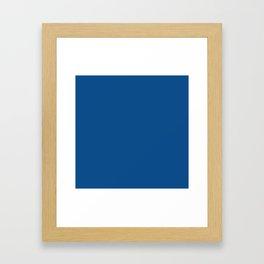 Lapis Lazuli Blue - Solid Color Collection Framed Art Print