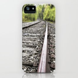 A Track Through The Woods iPhone Case