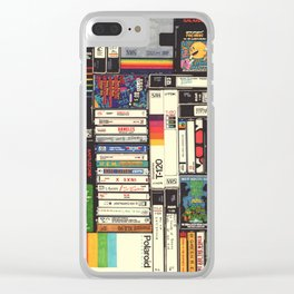 Cassettes, VHS & Atari Clear iPhone Case