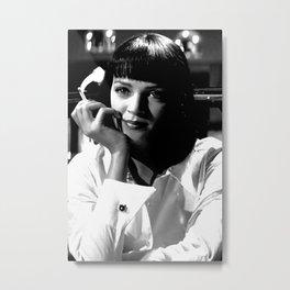 Mia Wallace Portrait Metal Print