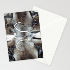 Reindeer skin with small bones, Ice Hotel, Jukkasjärvi, Sweden Stationery Cards