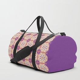 Mediterranean Floral Tiles Duffle Bag