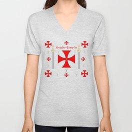Knights Templar Unisex V-Neck