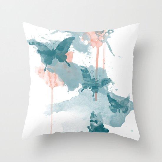 Butterflight Throw Pillow