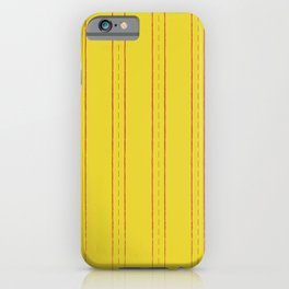 Simple design. Lines on an yellow background. iPhone Case