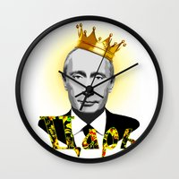 putin Wall Clocks featuring Vladimir Putin the Russian Czar by Exclusivity