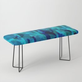 abstract composition in blues Bench