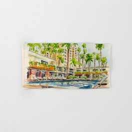 The Hollywood Roosevelt Pool Hand & Bath Towel