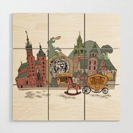 Old Europe. Krakow Wood Wall Art