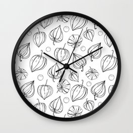 Physalis fruits pattern Wall Clock