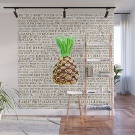 Psych Revamped! Complete List of Gus Nicknames! Wall Mural