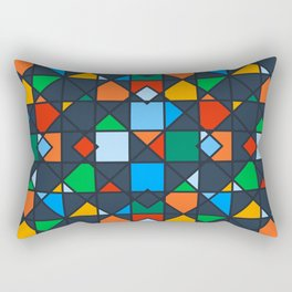 Colorful Kaleidoscope Architectural Geometric Pattern Rectangular Pillow