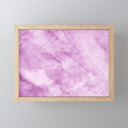 Purple Marble Framed Mini Art Print