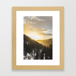 Light Rays Framed Art Print