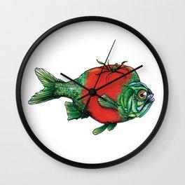 Tomato Fish Wall Clock