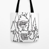 bon iver Tote Bags featuring Bon Iver by greta skagerlind