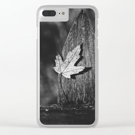 leaf on the fence Clear iPhone Case