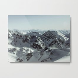 Utopic day at the top of Tyrol, Stubaier Gletscher, Austrian Alps Metal Print