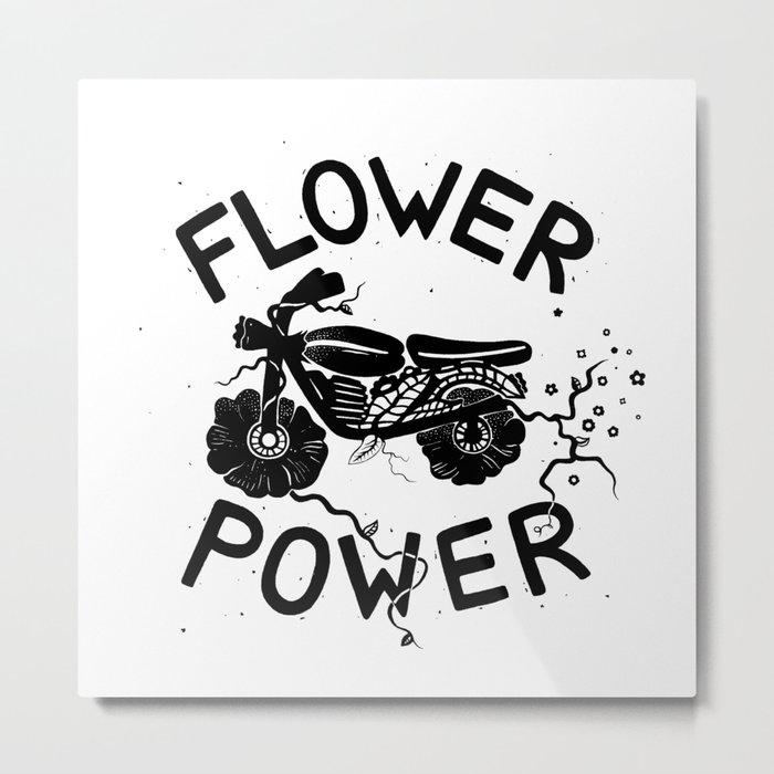 Floral Fuel Metal Print