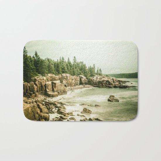 Acadia National Park Maine Rocky Beach Bath Mat