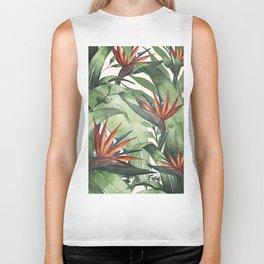 Tropical Flora I Biker Tank