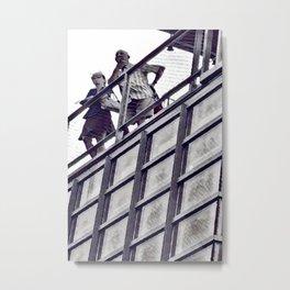 Metro Couple Metal Print