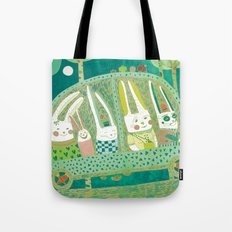 Rabbit journey Tote Bag