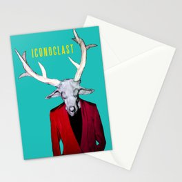 ICONOCLAST DEER MAN Stationery Cards
