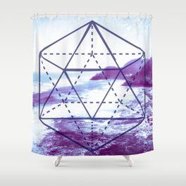 The Elements Geometric Nature Element of Water Shower Curtain