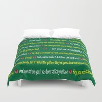 quotes Duvet Covers featuring Caddyshack Quotes by Dr. Spaceman40