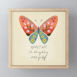 Botanical Butterfly: What if you fly? Framed Mini Art Print