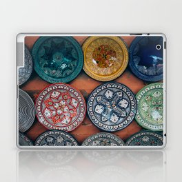 Arabic Moroccan Plates on Wall in Marrakech Laptop & iPad Skin