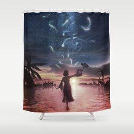 The sending Shower Curtain