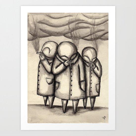The Smokers Art Print