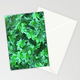 Dew foliage pattern Stationery Cards