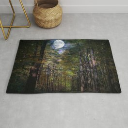 Magical Moonlit Forest Rug