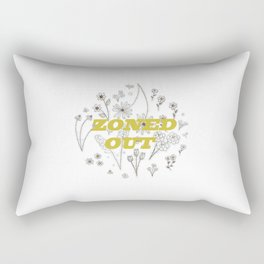 Zoned Out II - With Text Rectangular Pillow
