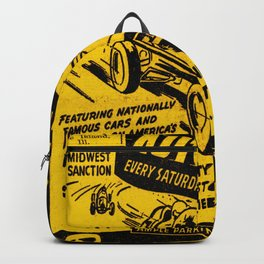 Midget Auto Races, Race poster, vintage poster Backpack
