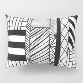 Mono Geo Lines Pillow Sham