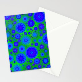 Yellow Hippie Flower Pattern Stationery Cards