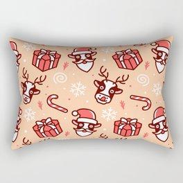 deer christmas pattern Rectangular Pillow