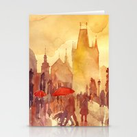 takmaj Stationery Cards featuring Charles Bridge by takmaj