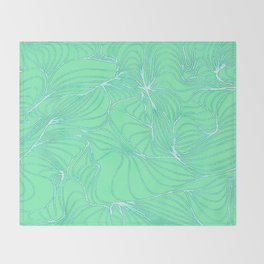 Curves in Mint & Turquoise Throw Blanket