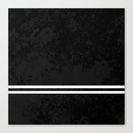 Infinite Road - Black And White Abstract Canvas Print