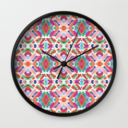 Watercolor Boho Dash 3 Wall Clock