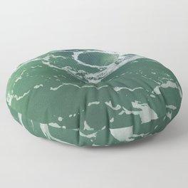 Sea Foam Green Ocean Wave Photograph Floor Pillow