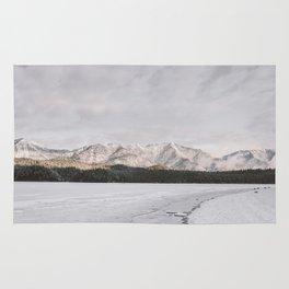 Frozen Lake Views - Landscape Photography Rug