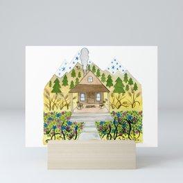 Welcome Cabin Mini Art Print